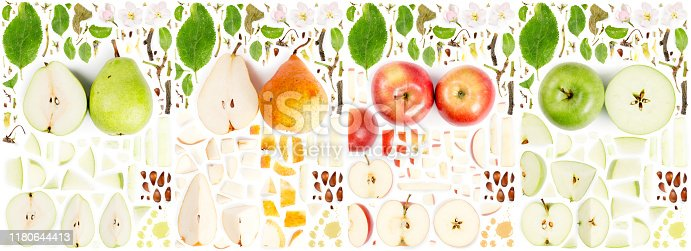istock Apple and Pear Collection Abstract 1180644413