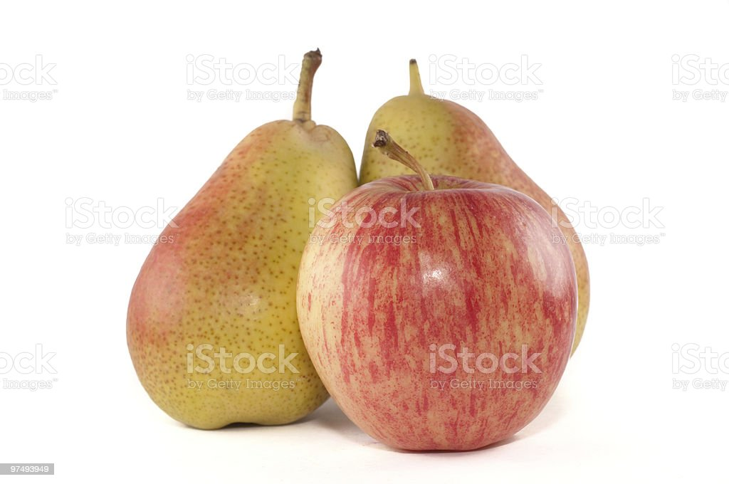 Apple and pears royalty-free stock photo