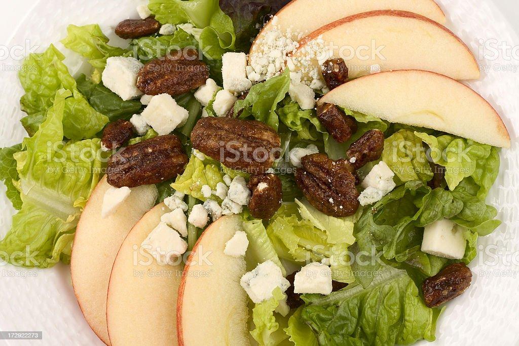 Apple and Pecan Salad stock photo