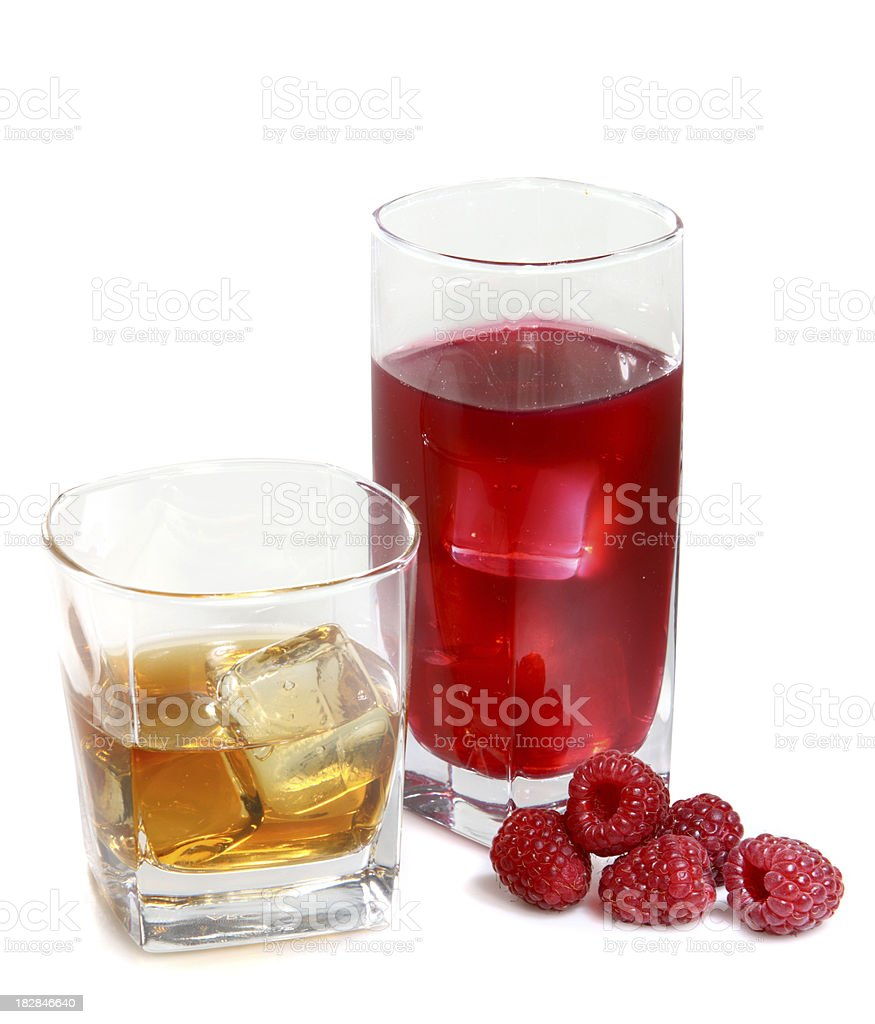 Apple and Raspberry drink stock photo