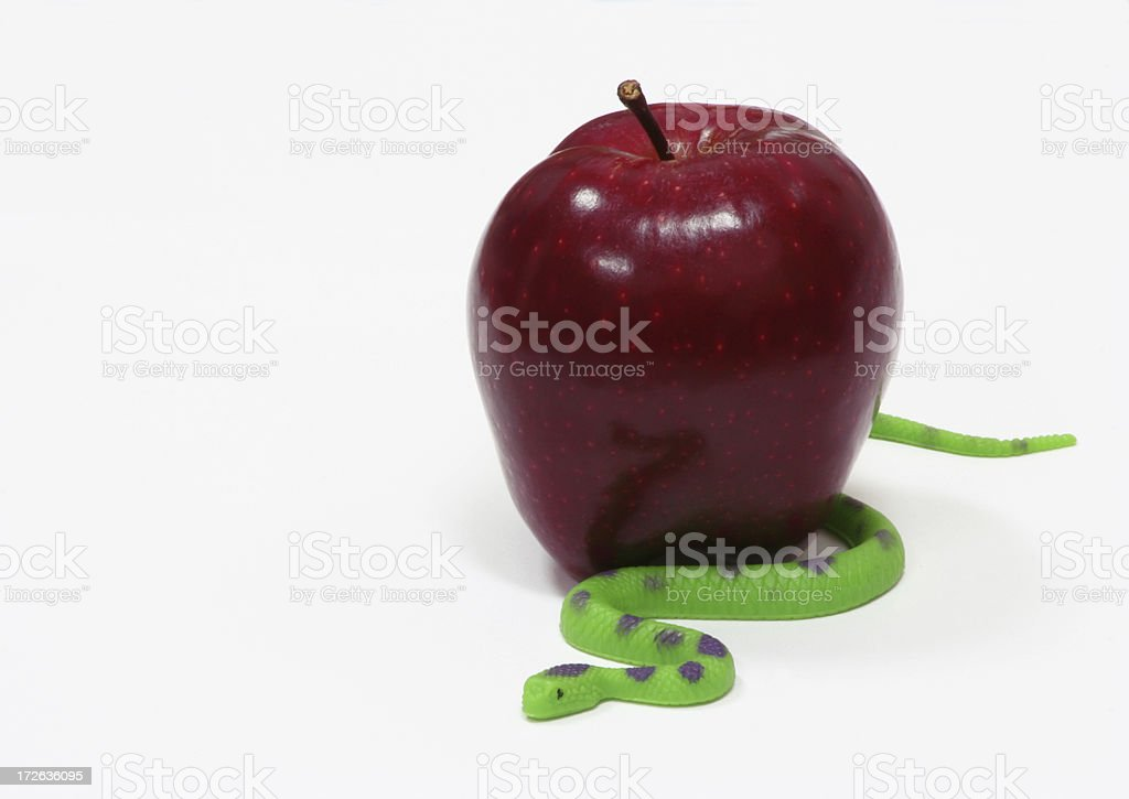 Apple and Snake stock photo