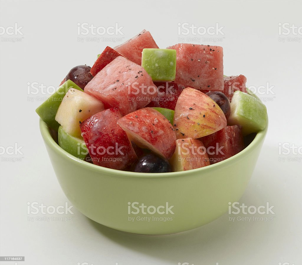 Apple and Watermelon Salad stock photo