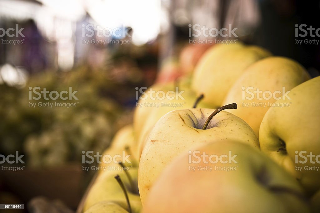 Apple at the market royalty-free stock photo