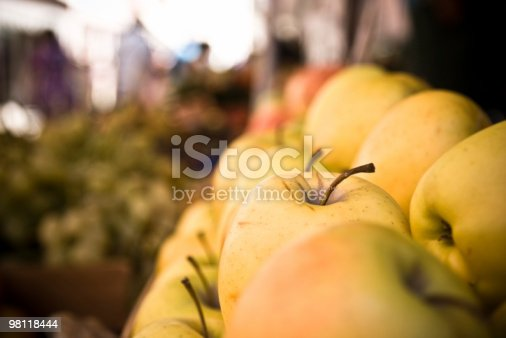 Apple At The Market Stock Photo & More Pictures of Agricultural Fair