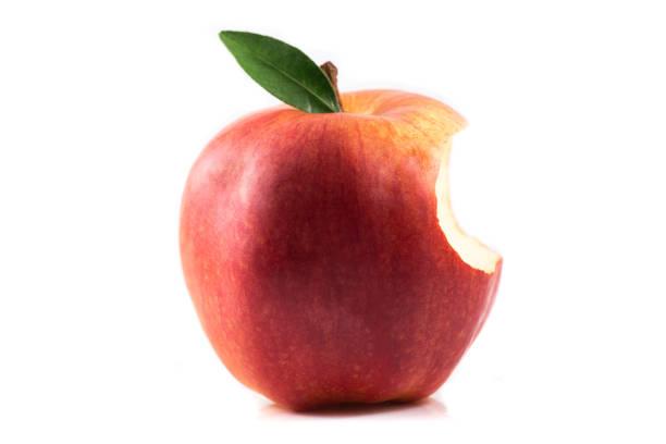 apple bite stock photo