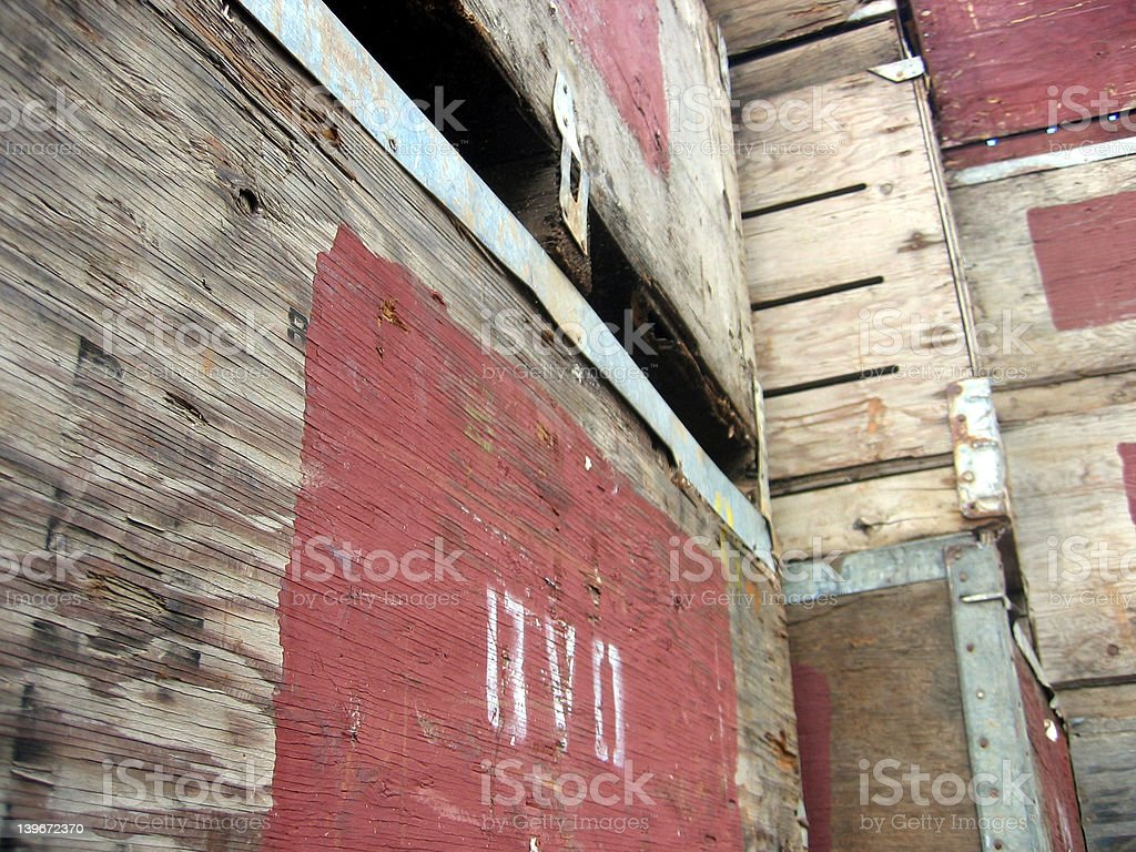 Apple Boxes Stack royalty-free stock photo