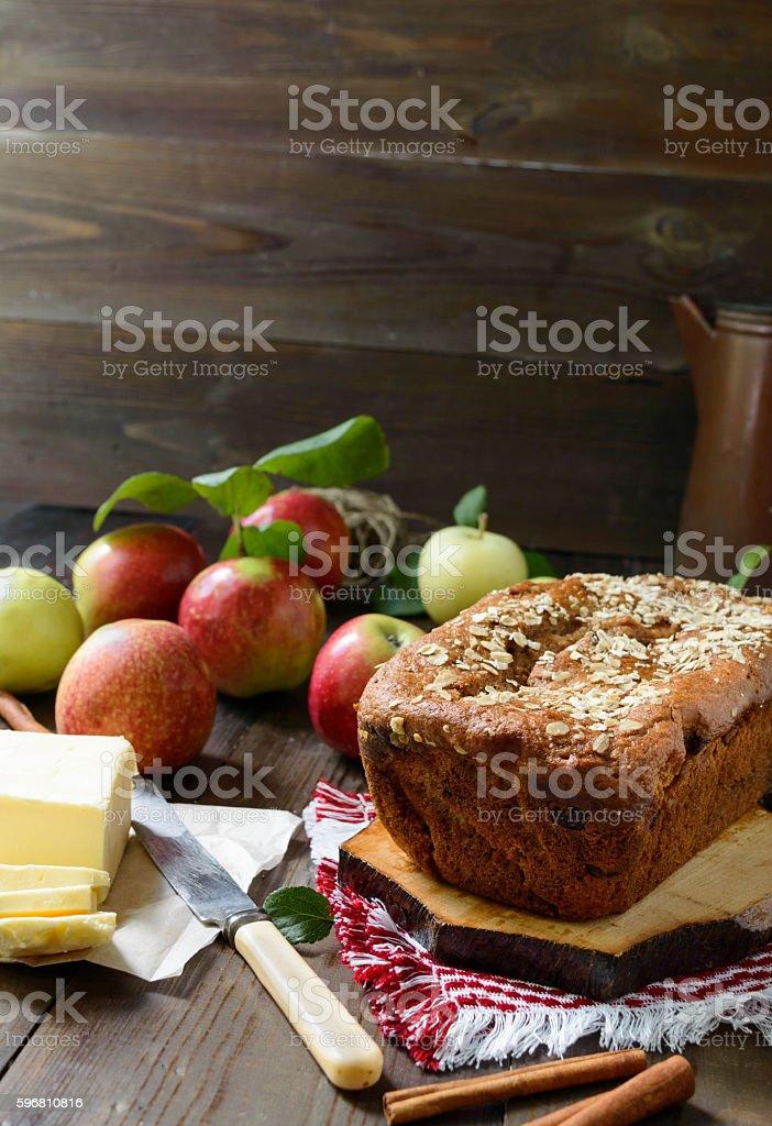 apple bread stock photo