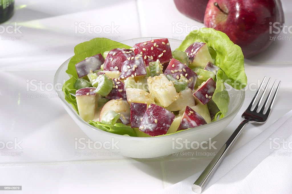 Apple Celery Salad royalty-free stock photo