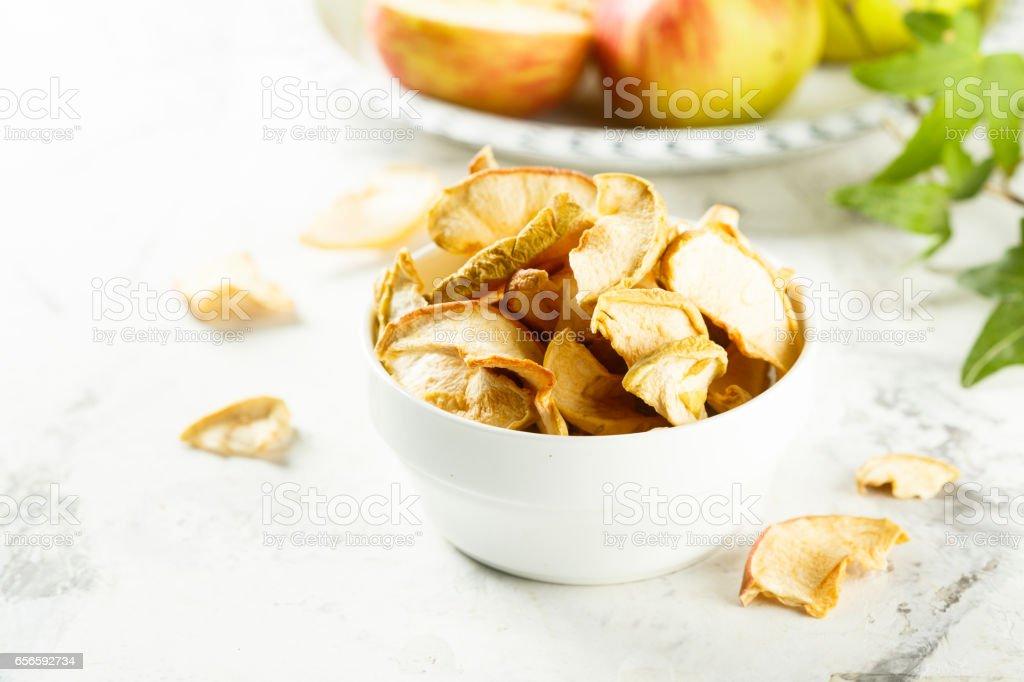 Apple chips stock photo
