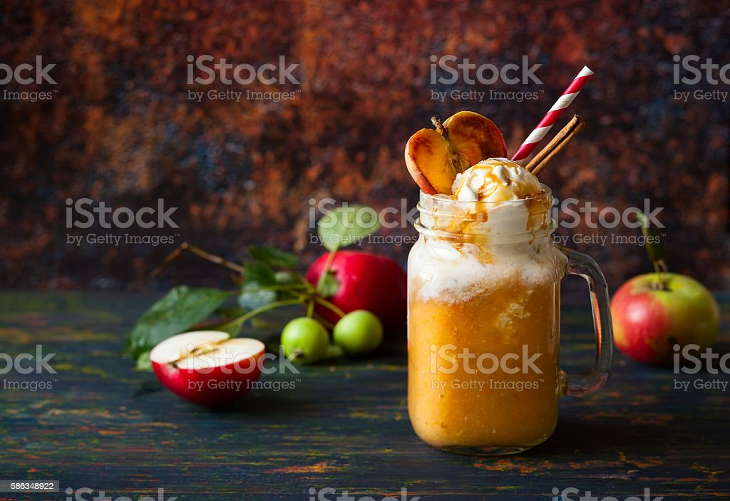 Apple cider float stock photo