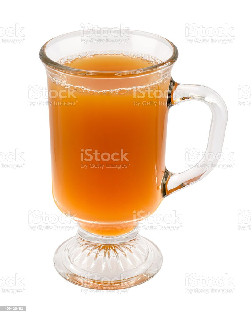 Apple Cider in a Glass Mug stock photo