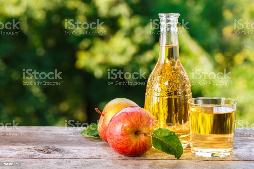 apple cider or juice stock photo
