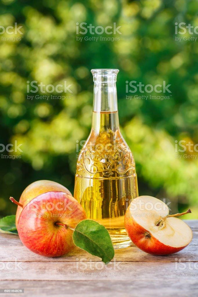 apple cider or vinegar stock photo