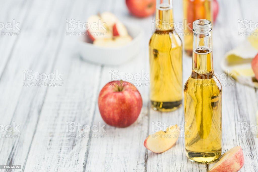 Apple Cider (selective focus, close-up shot) stock photo
