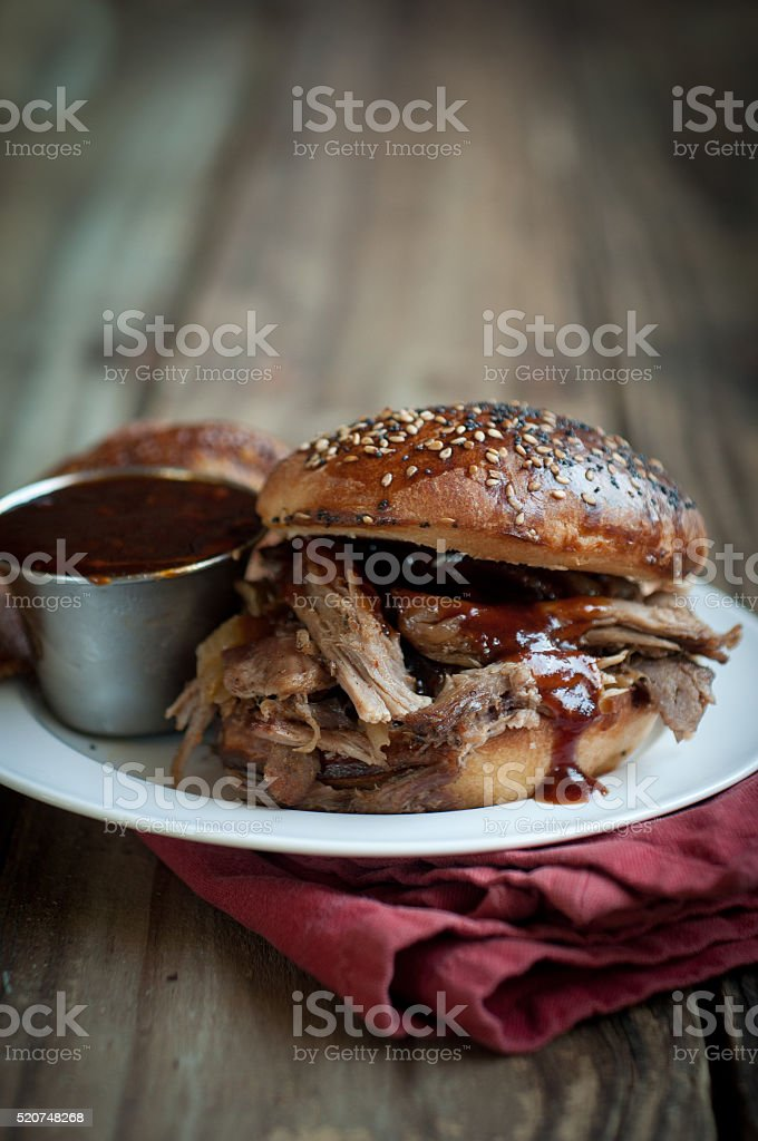 Apple Cider Pulled Pork stock photo