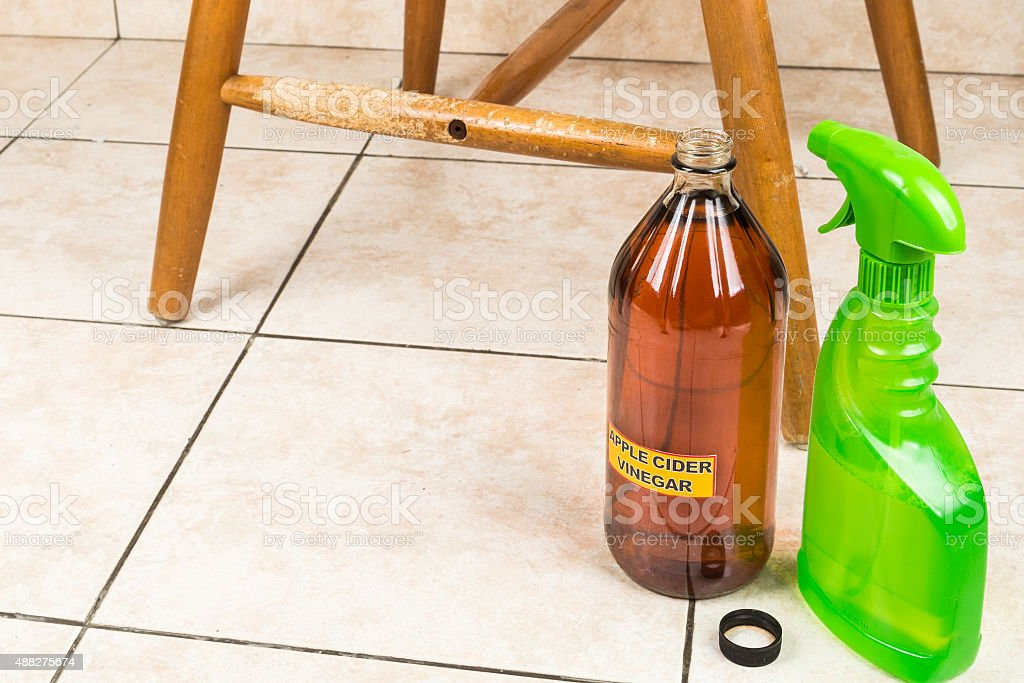 Apple cider vinegar discourage pets from chewing on furnitures stock photo
