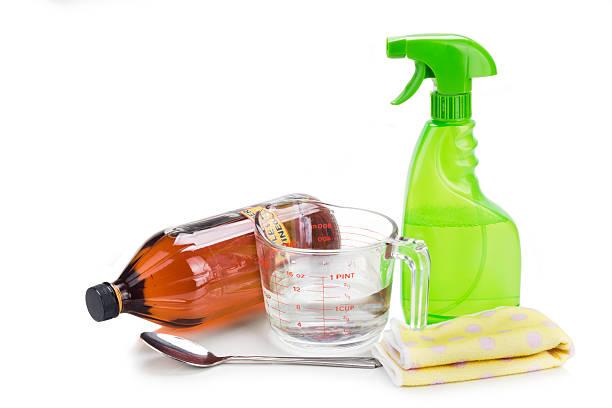 Aceto di mele, efficace soluzione per casa cleani naturale - foto stock
