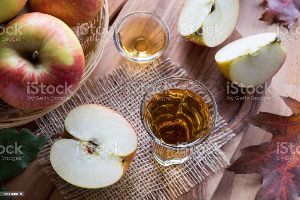 Apple cider vinegar in a glass royalty-free stock photo