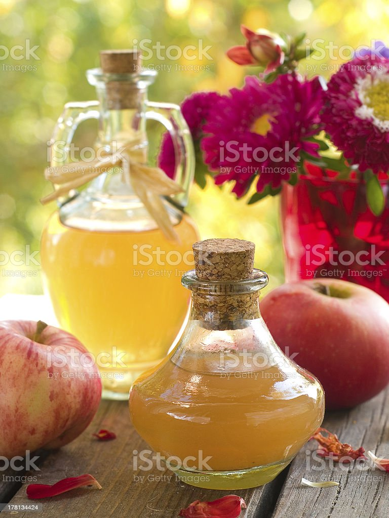 Apple cider vinegar royalty-free stock photo