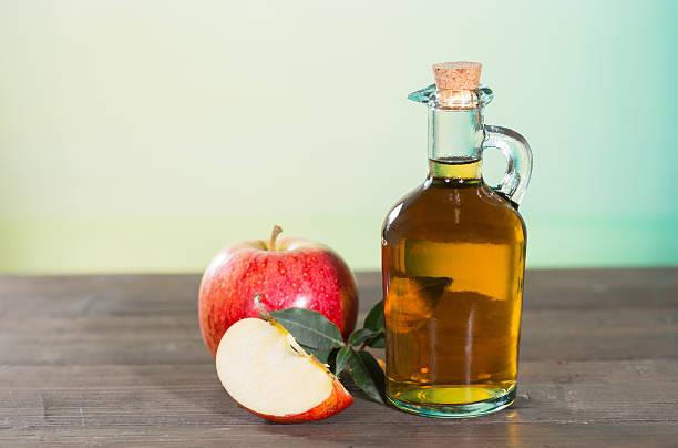 Apple cider vinegar stock photo