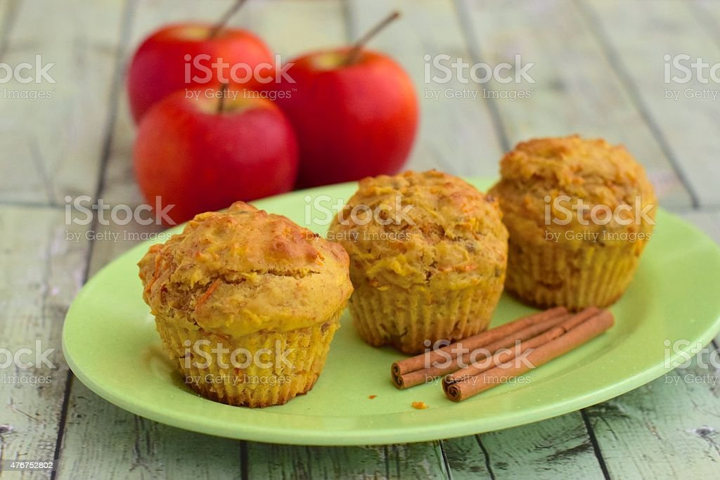Apple Cinnamon Muffins stock photo