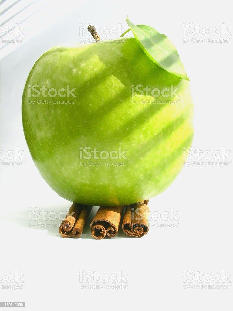 apple & cinnamon royalty-free stock photo