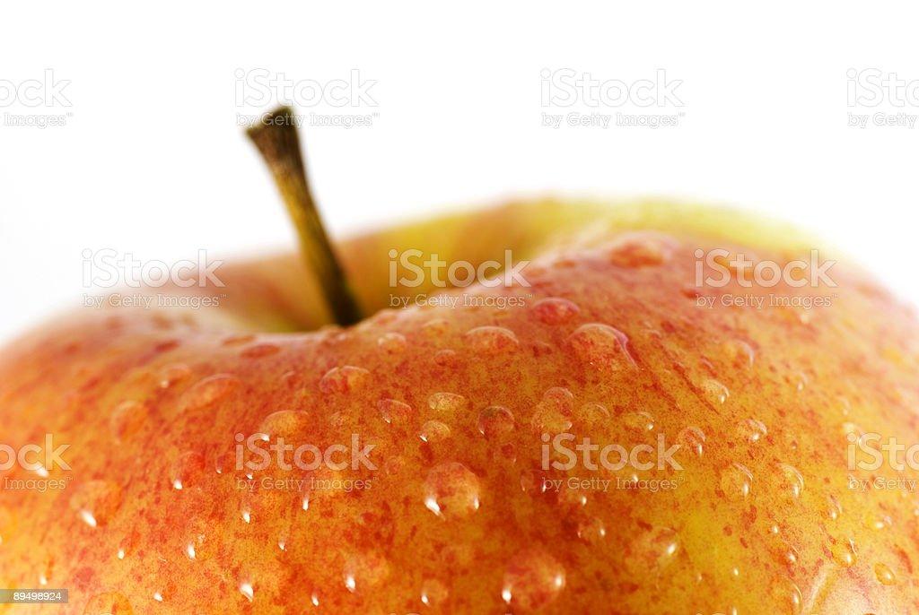Apple close-up royaltyfri bildbanksbilder