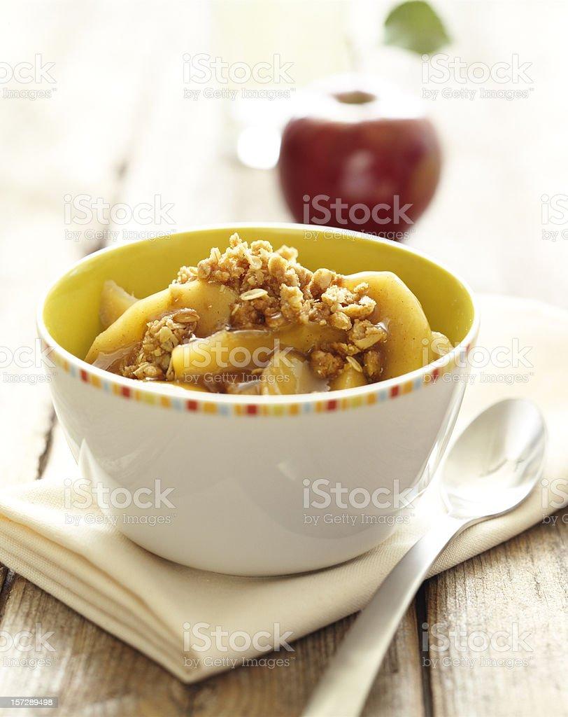 Apple Cobbler on harvest table stock photo