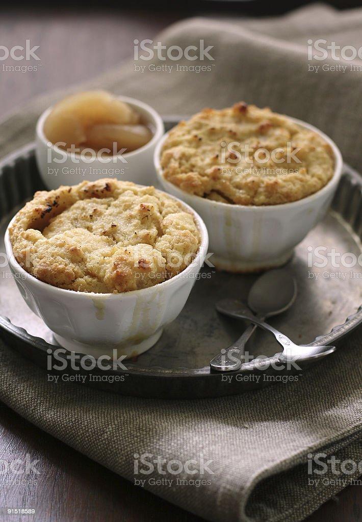 apple cobbler stock photo