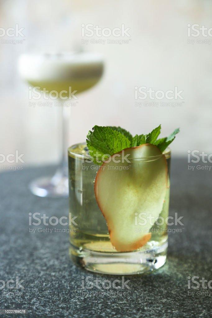 Apple cocktail stock photo