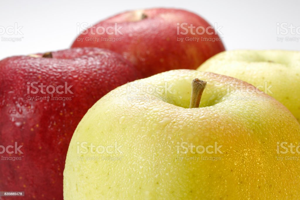 Apple composition with Clipping Path stock photo