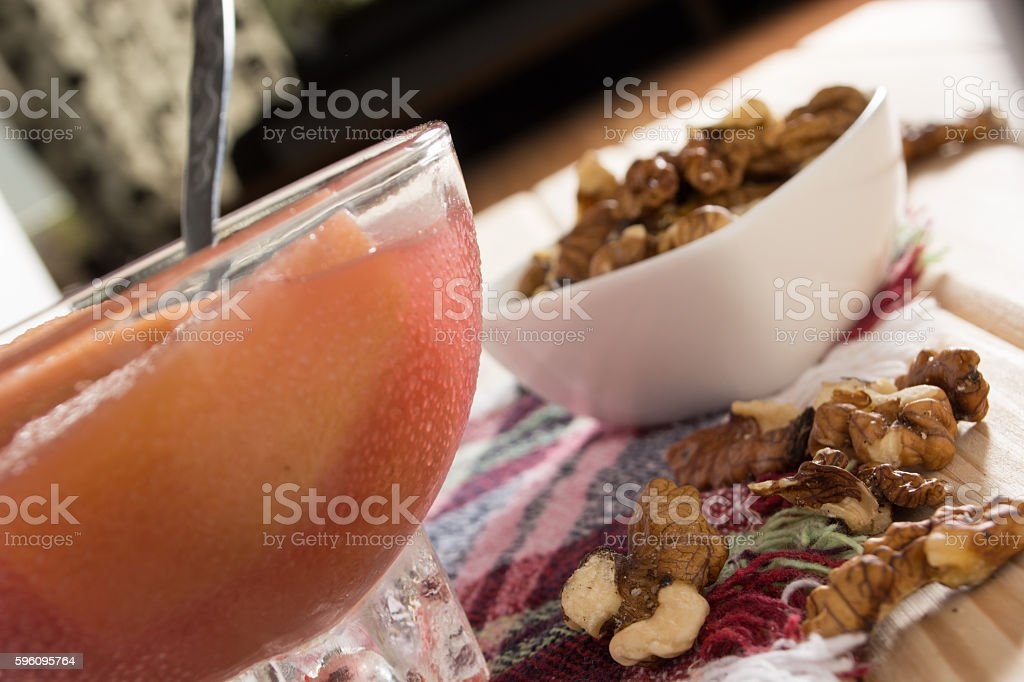 Apple compote with walnuts royalty-free stock photo