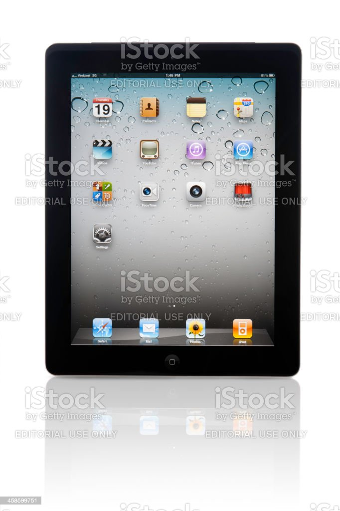 Apple Computer iPad Wi-Fi Verizon 3G Clipping Path royalty-free stock photo