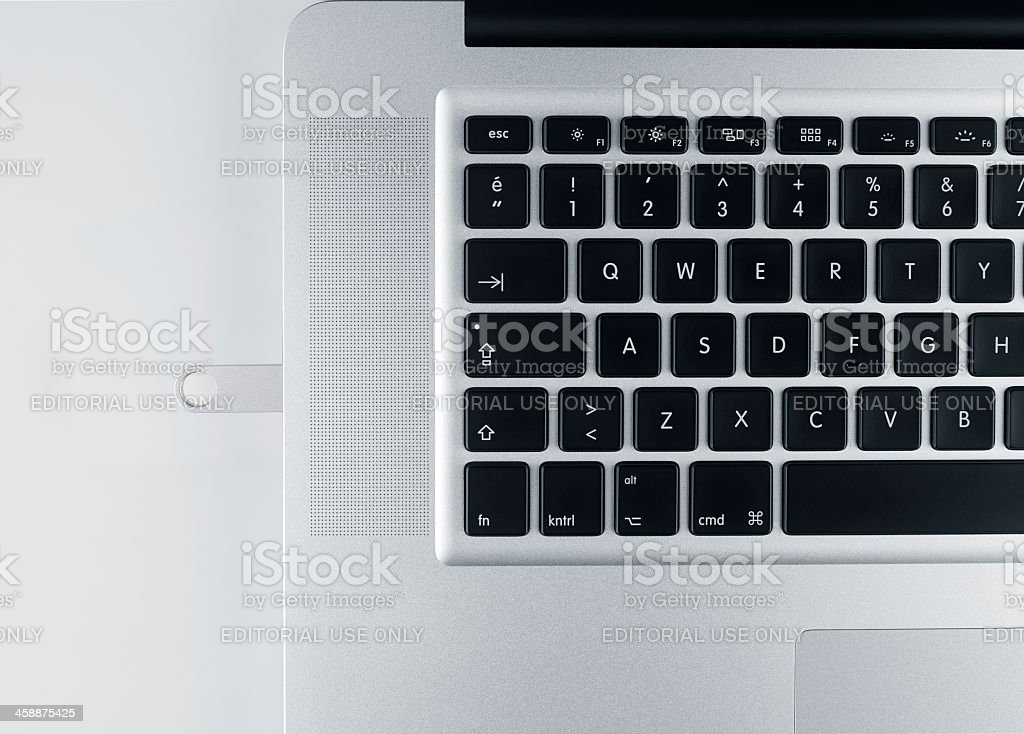 Apple Computer Side View royalty-free stock photo