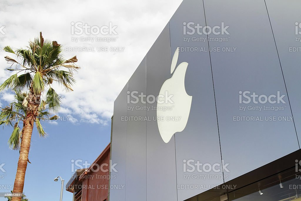 Apple Computer store front facade royalty-free stock photo