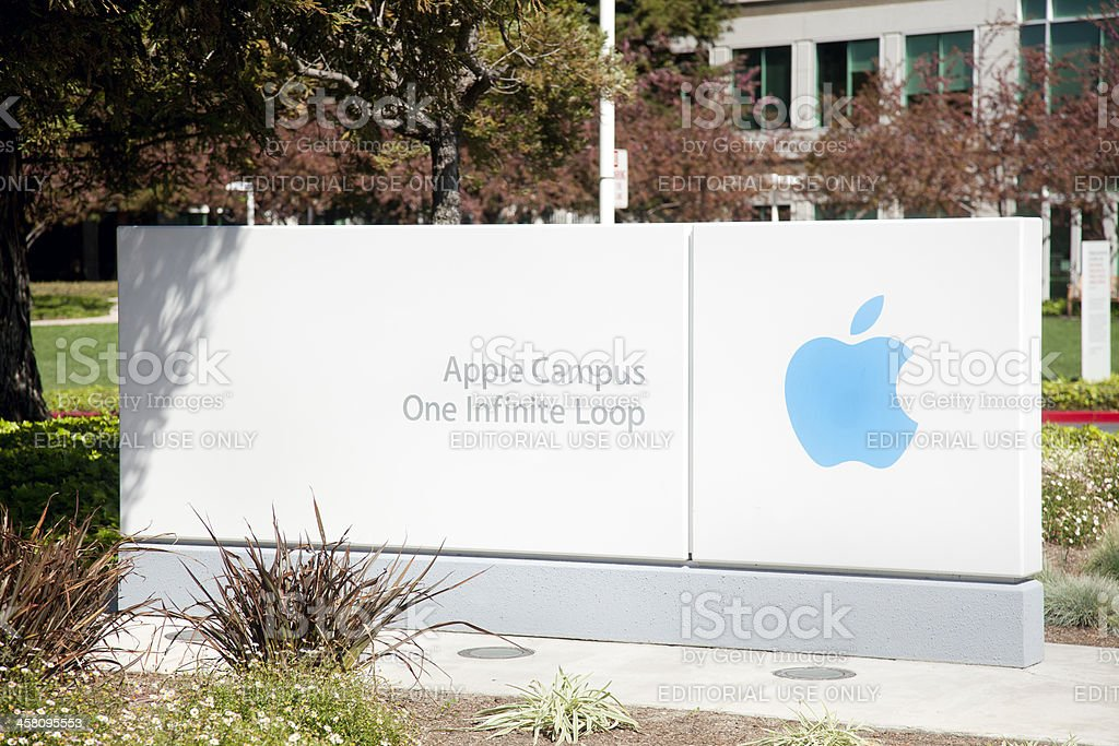 Apple Computers Campus stock photo