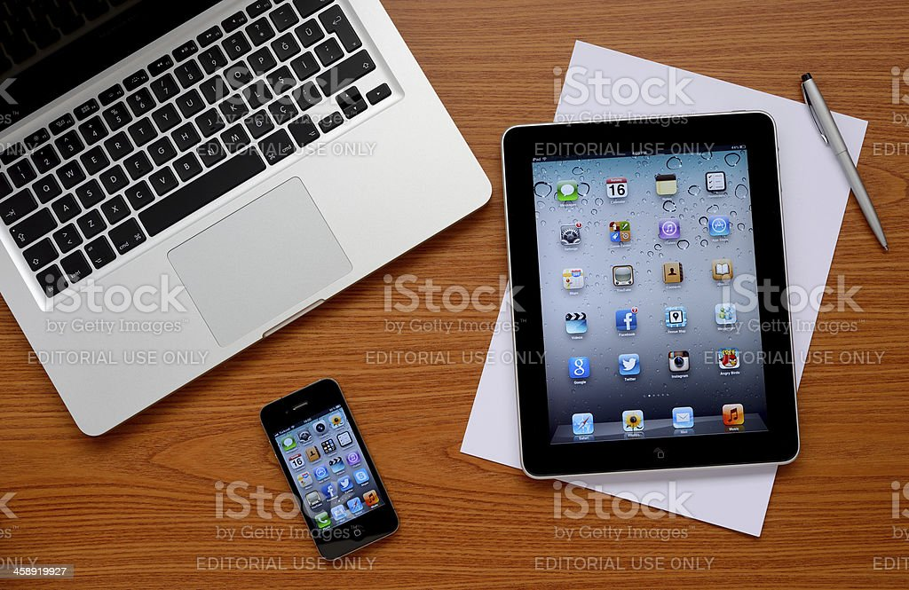 Apple computers royalty-free stock photo