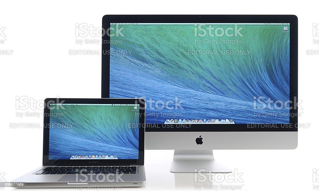 Apple computers stock photo