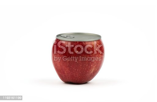 Apple conserve canned white background