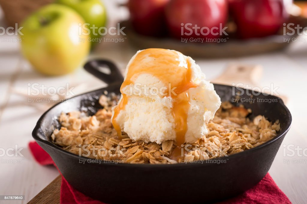 Apple Crisp stock photo