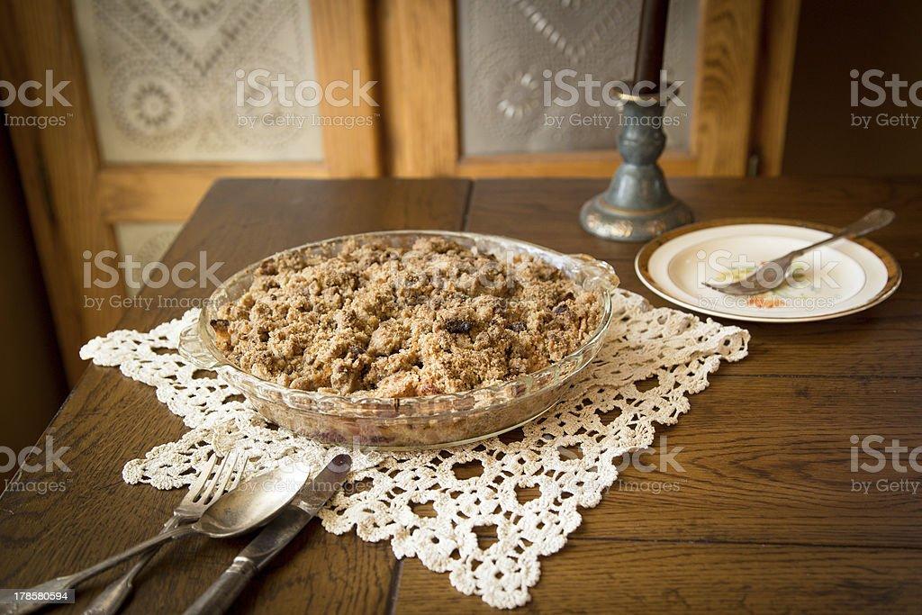 Apple Crumb Pie stock photo