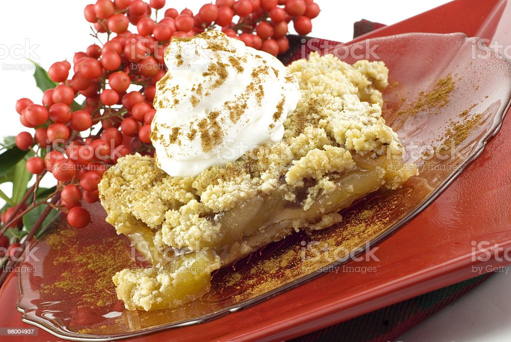 Apple Crumb Topped Pie royalty-free stock photo
