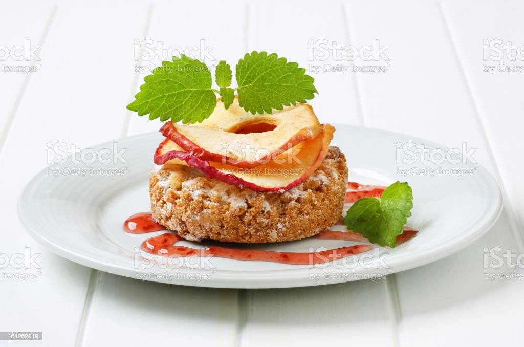 Apple crumble cookie stock photo