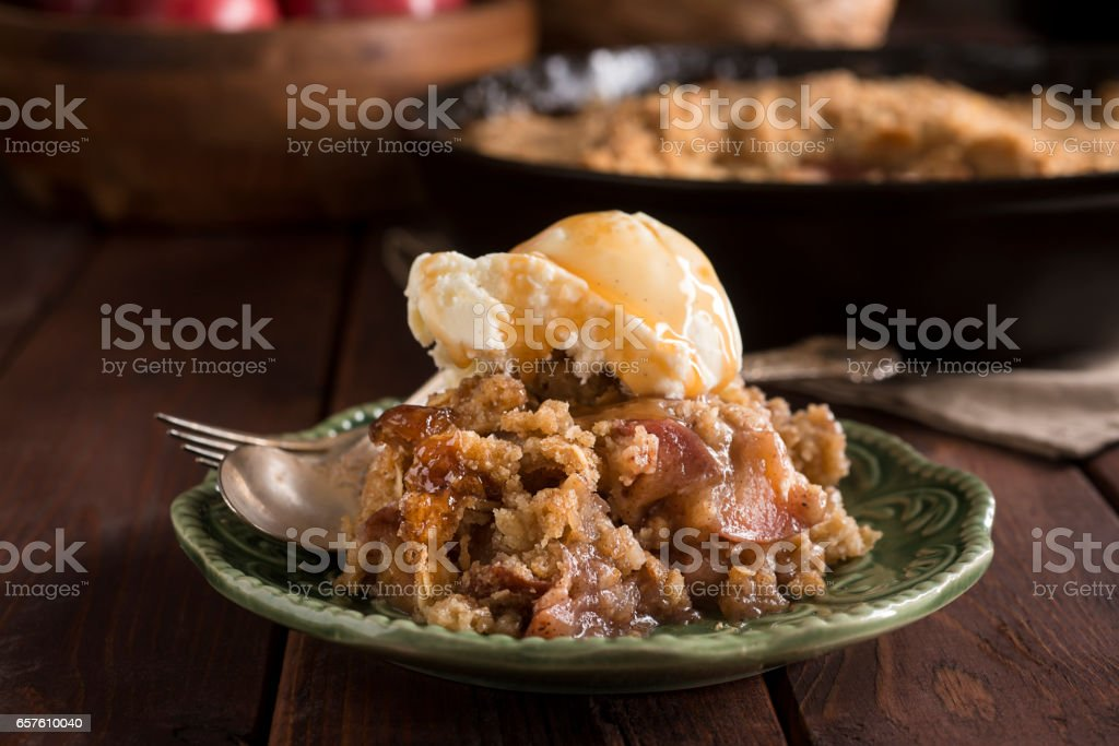Apple Crumble stock photo
