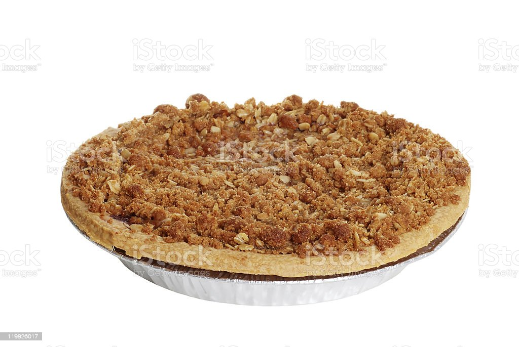 apple crumble pie stock photo