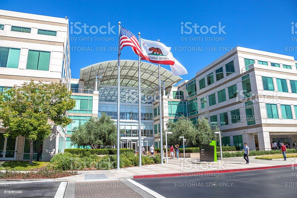 Apple Cupertino California stock photo