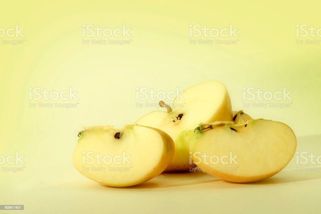 apple cut up pretty bad... royalty-free stock photo