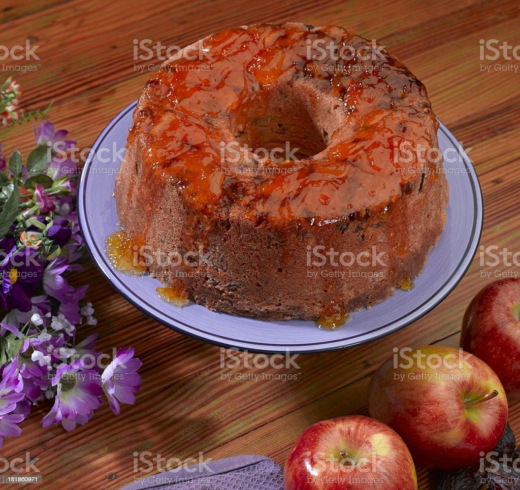 Apple Date Cake stock photo