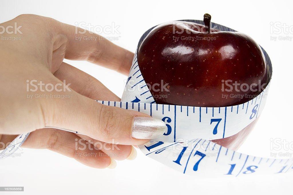 Apple diet royalty-free stock photo