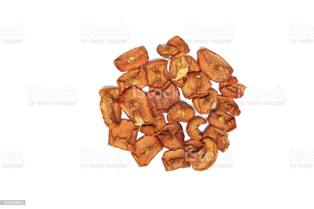 apple dried fruit stock photo